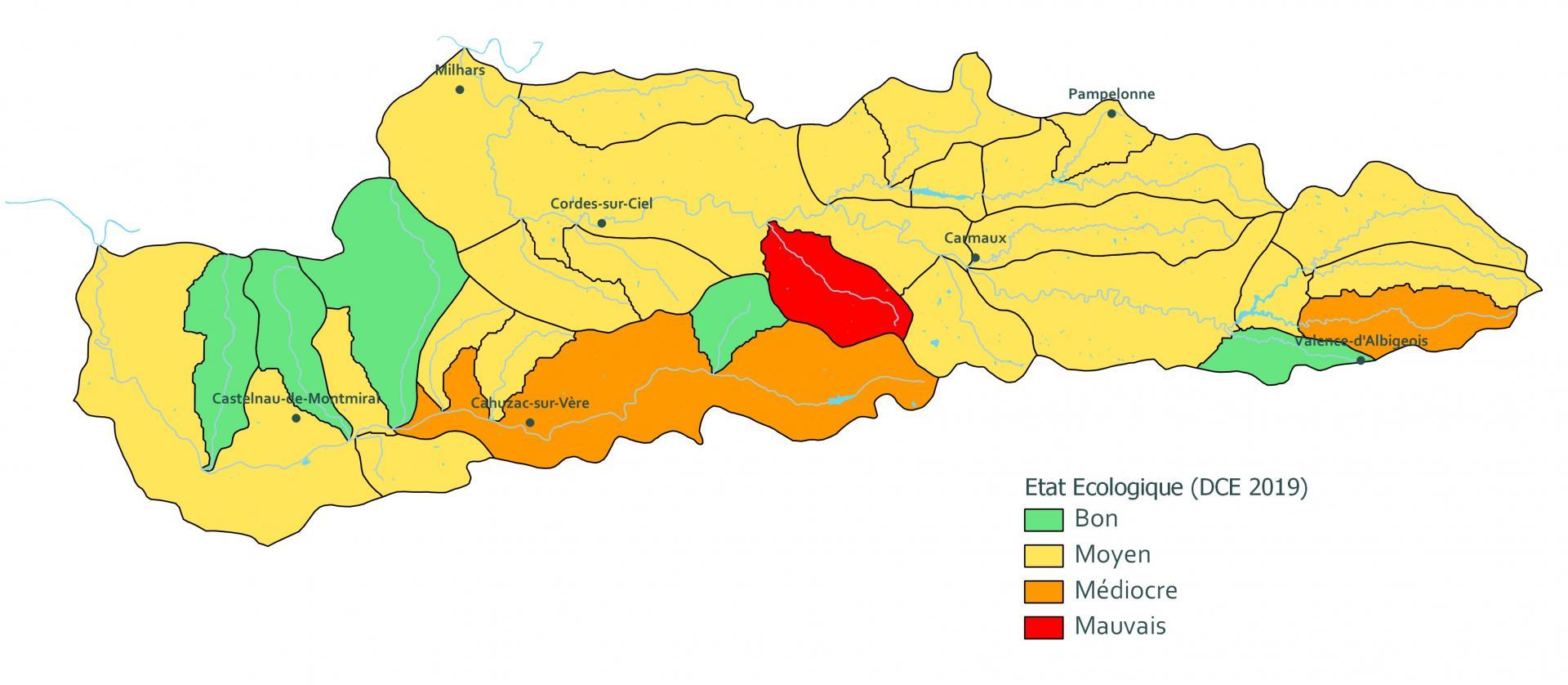 Carte etat ecologique edl2019 site